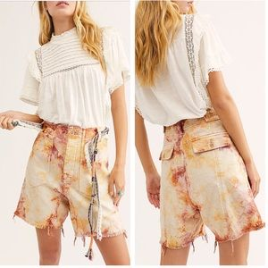 NWT Free People She's A Legend Tie-Dye Shorts